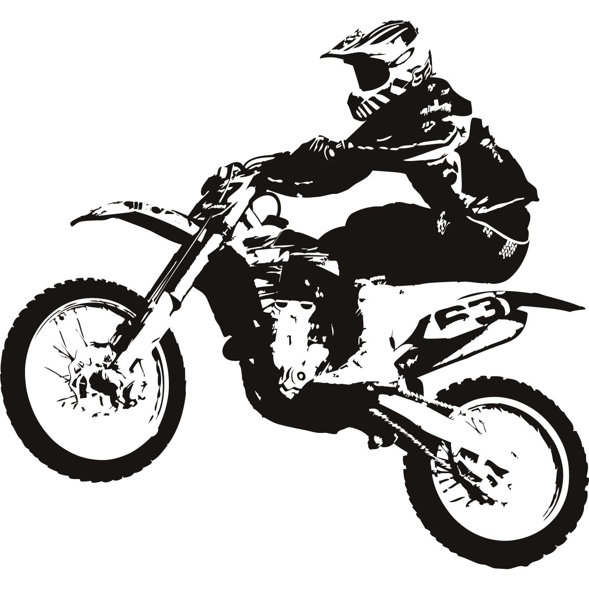 Dirt Bike Clipart Black And White Dirt Bike Transport Sports And